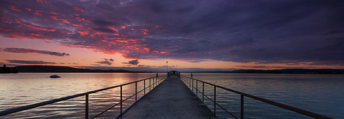 Sonnenuntergang Mannenbach (CH), Bodensee