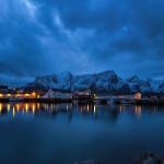 Moskenes - blaue Stunde