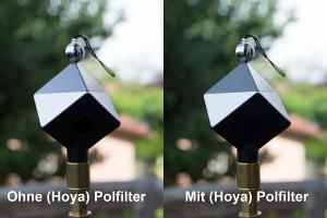 Hoya Polfilter mit SpyderCube.