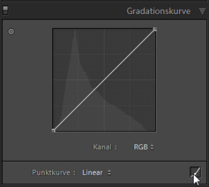 Adobe Lightroom Gradationskurve