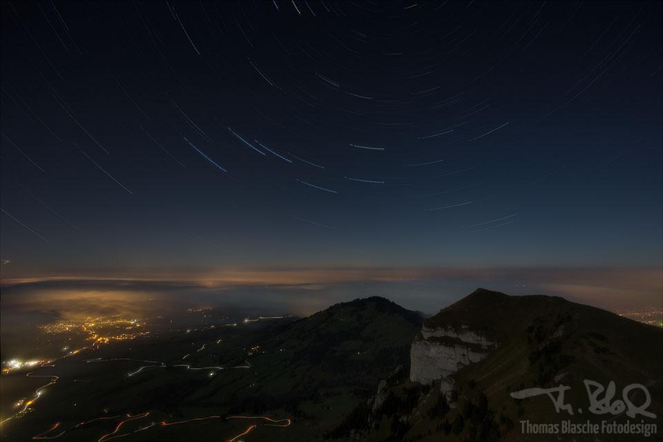 Sternstrichspuren Richtung Norden