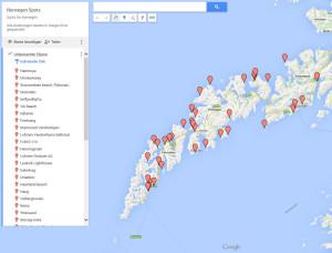Karte Lofoten mit den Aufnahmeorten