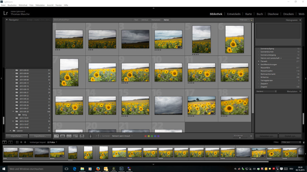 Lightroom Bibliothek