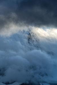 Ein scheuer Blick aufs Matterhorn - mehr war am Abend nicht drin