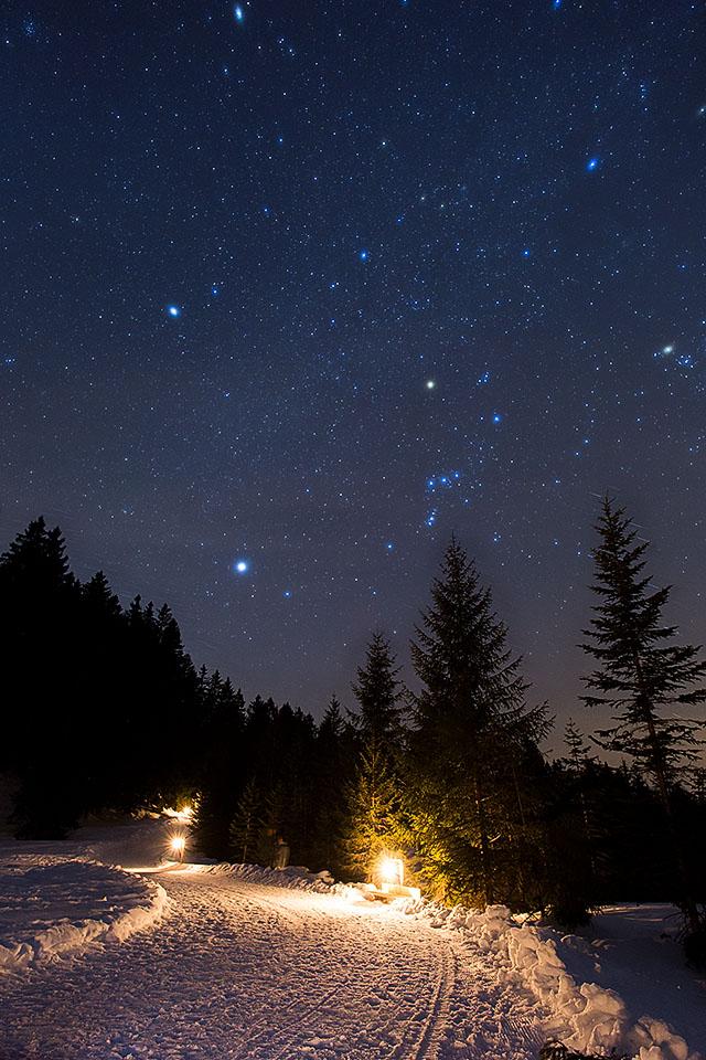 Sternenhimmel Winter